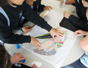 These Year 2 students chose to work together to complete the 'parrot of purpose activity during a Brand New Day session.
